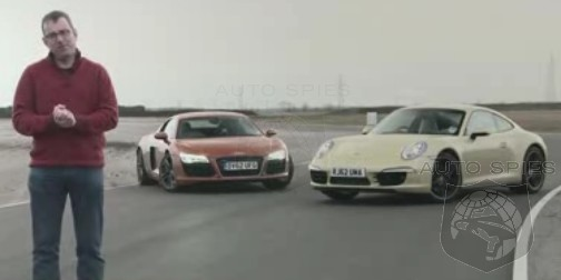 CAR WARS! The NEW Audi R8 V8 Get Put To The Test On The TRACK With The Porsche Carrera 4S