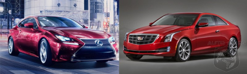 NEW YORK AUTO SHOW CAR WARS Cadillac ATS Coupe vs Lexus RC 350 F Sport