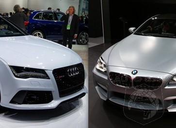 DETROIT AUTO SHOW: High-Powered, German Coupes Square Off In Motown - BMW M6 Gran Coupe vs. Audi RS7