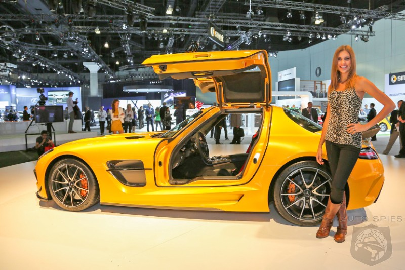 LA AUTO SHOW: Is Mercedes-Benz's SLS AMG Black Series IMPRESSING You Or Is It More Like A LIMP Banana?