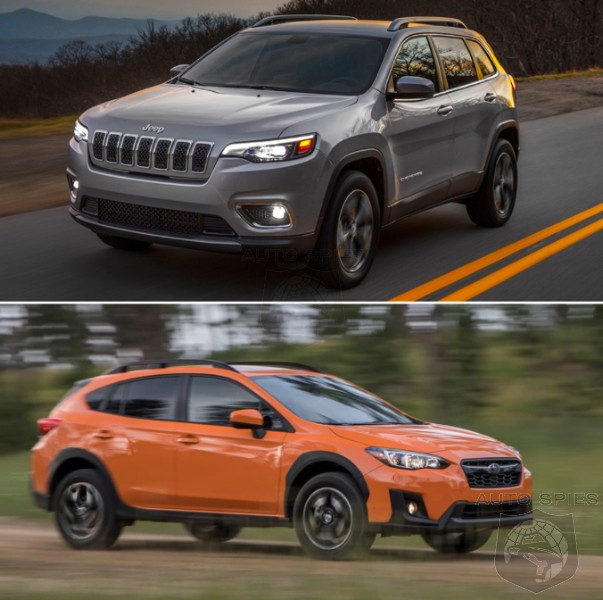 CAR WARS! In A Head-to-Head Of RUGGED-ish SUVs, WHICH Gets YOUR Vote? Cherokee Vs. Crosstrek...
