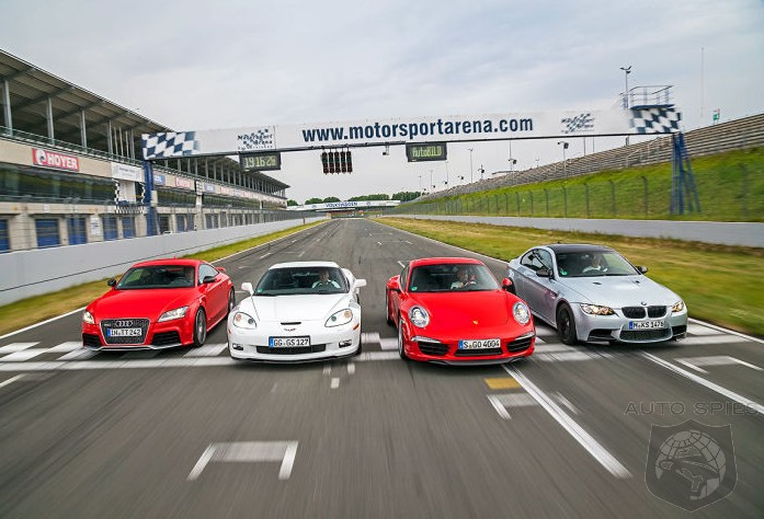 SHOWDOWN! Porsche 911 (991) Carrera S vs. Chevrolet Corvette GS vs. Audi TT RS vs. BMW M3 Coupe