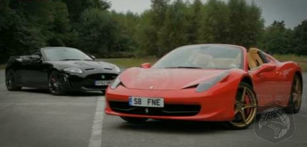 VIDEO: Sound OFF! Ferrari's 458 Italia Spyder Vs. Jaguar's XKR-S Convertible -- Which Sounds Better?