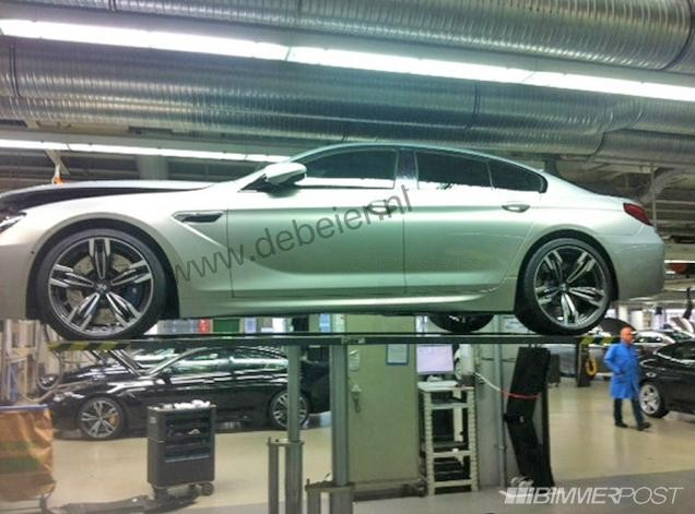 2013 BMW M6 Gran Coupe Spotted in Factory, Revealing New Wheels.