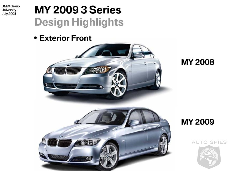 photos comparison 2008 bmw 3 series vs 2009 3 series. Black Bedroom Furniture Sets. Home Design Ideas