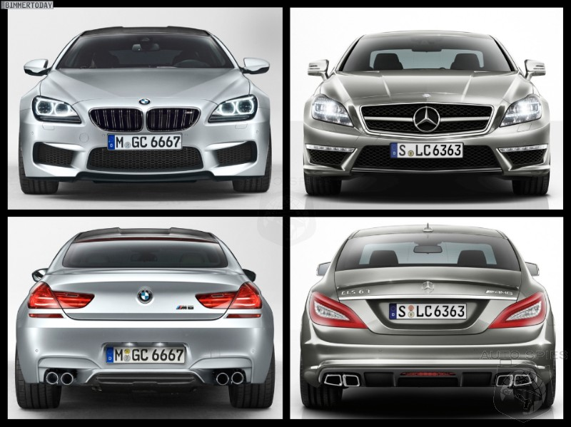 Photo Comparison: BMW M6 Gran Coupe vs. Mercedes-Benz CLS 63 AMG