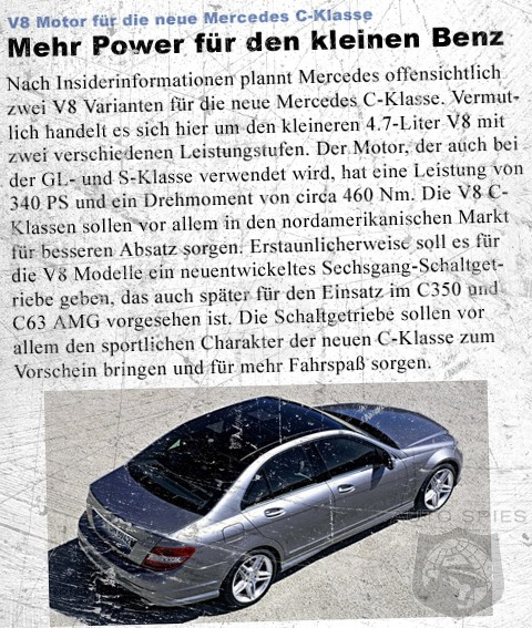 V8 Mercedes C-Class with 6-speed manual transmission coming?