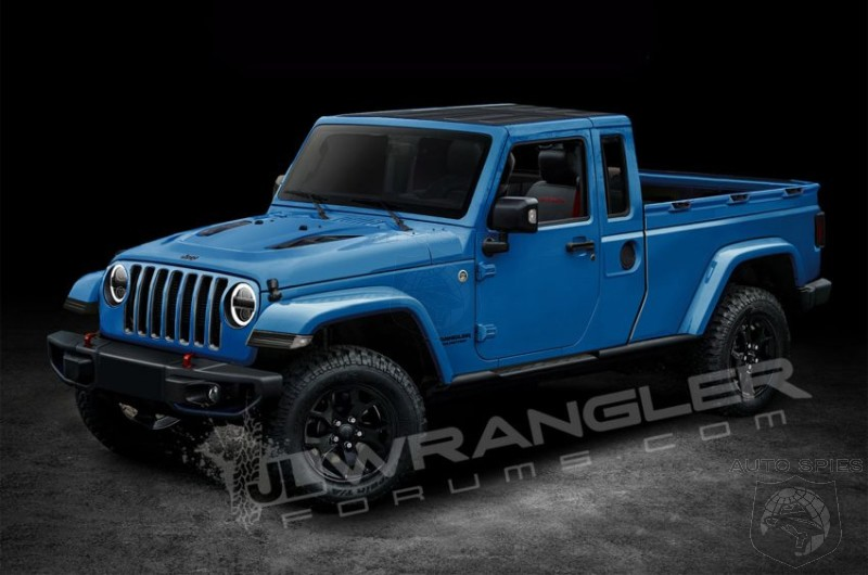 Headlights For Jeep Wrangler 2019 Jeep Wrangler Pickup Truck Rendered - AutoSpies Auto News