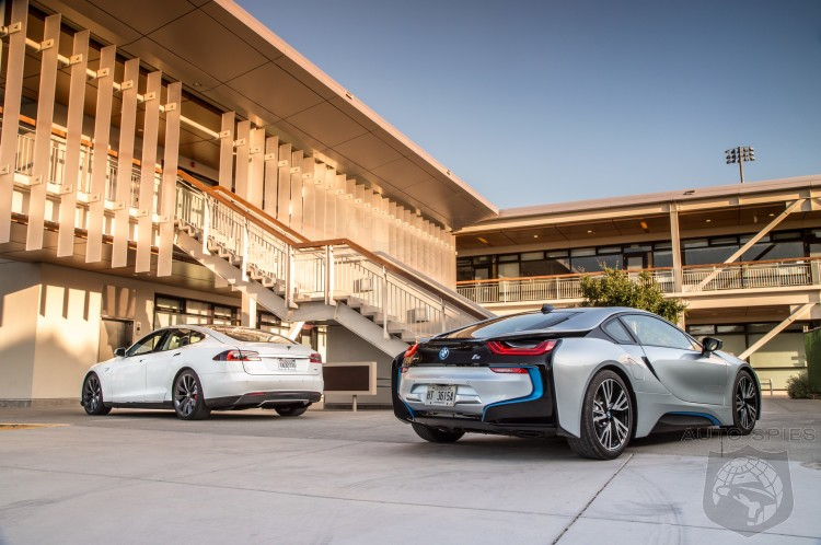 2014 Tesla Model S Vs Bmw I8 In Motortrend Comparison Test Tesla