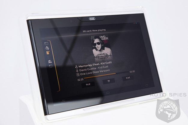 Audi Shows Off Its Audi Smart Display Tablet - Allows WiFi Streaming Between MMI System and Devices