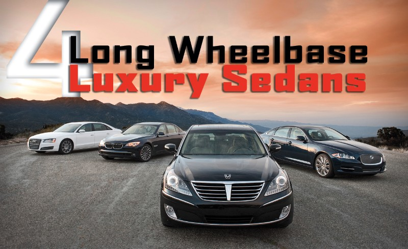 2011 Audi A8L vs. 2011 BMW 750Li vs. 2011 Jaguar XJL vs. 2011 Hyundai Equus - Road and Track Comparison!