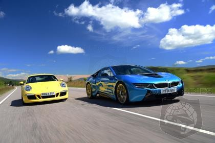 Auto Express Comparison Test: 2015 BMW i8 vs. Porsche 911! The Porsche 911 Wins!
