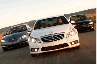 Insideline: BMW 550i vs. Mercedes-Benz E550 vs. Jaguar XF 5.0