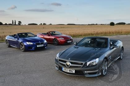 Mercedes-Benz SL63 AMG vs. BMW M6 Convertible vs. Jaguar XKR-S Convertible - Auto Express Comparison Test!