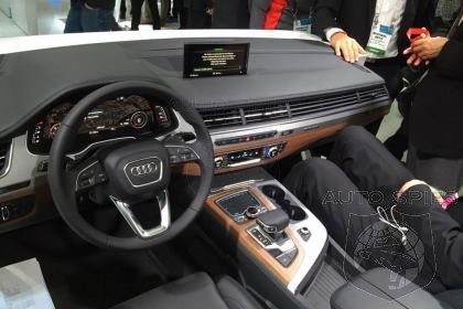 ces new audi q7 suv s cabin is revealed in las vegas autospies