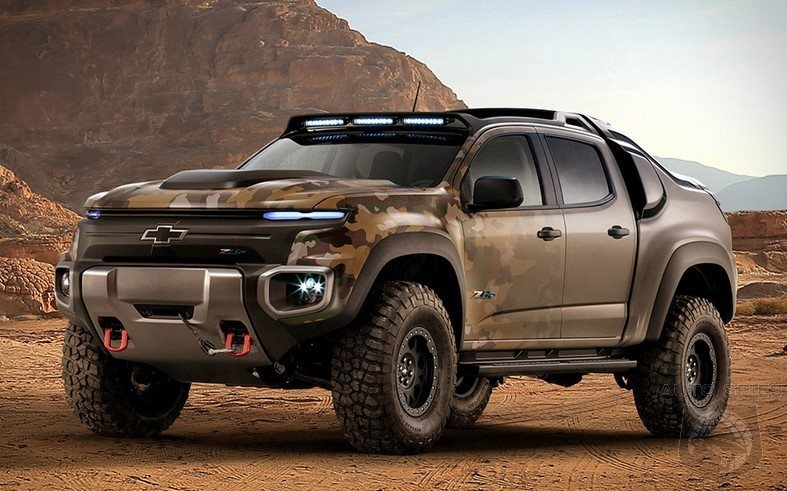 2017 Chevrolet Colorado ZH2 - First Hydrogen Army Truck - AutoSpies Auto News