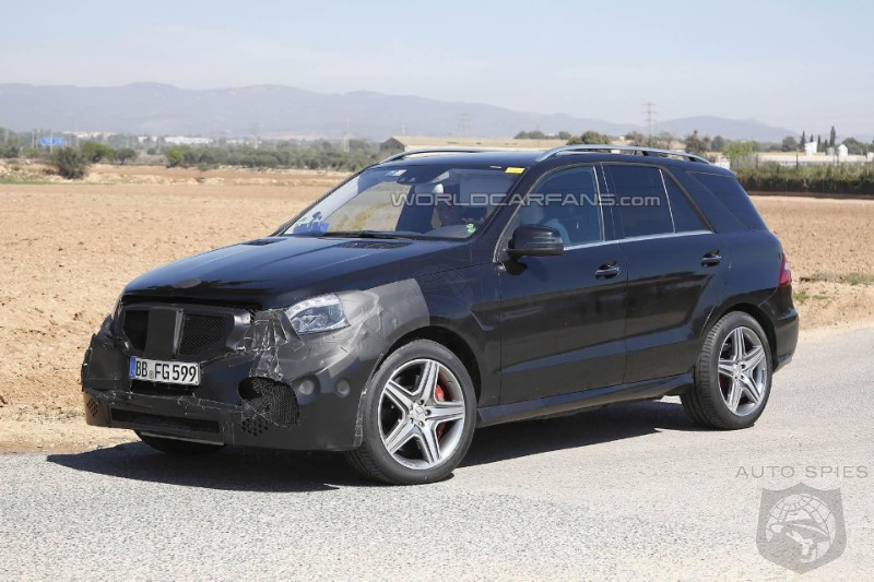 Very First ML63 AMG Facelift Spy Photos