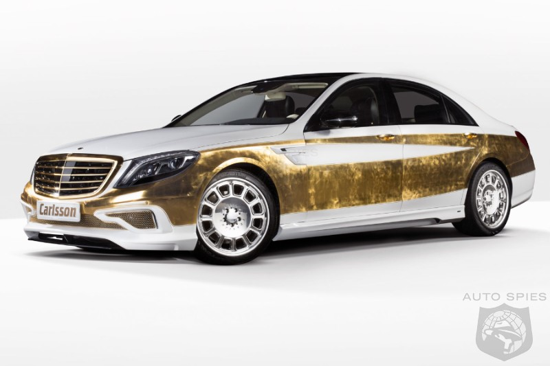 Gold Covered S-Class Revives Versailles Era