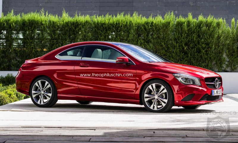 Mercedes CLA-Class Two-Door Coupe Rendering