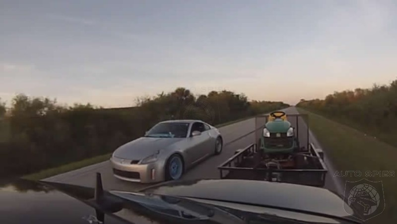 Mercedes AMG Pulling a Tractor Smokes Nissan 350Z - Video
