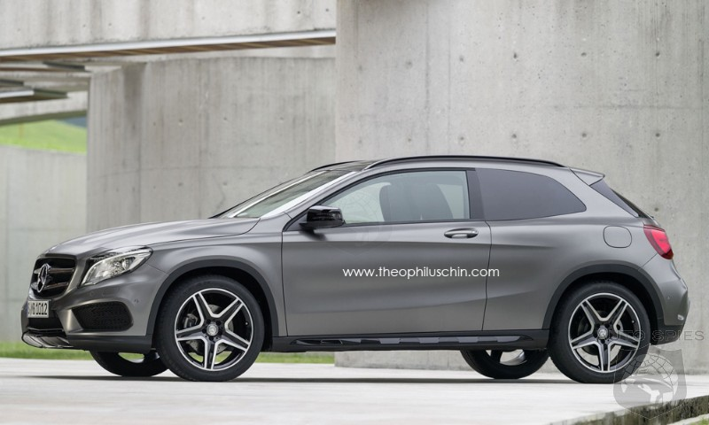 Three-Door Mercedes GLA Rendered