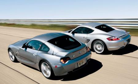 Comparison Test Review: 2006 BMW Z4 M Coupe vs. 2006 Porsche Cayman ...