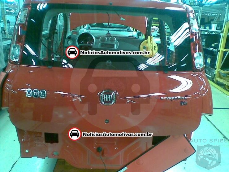 Spied – The rear of the 2011 Fiat Uno