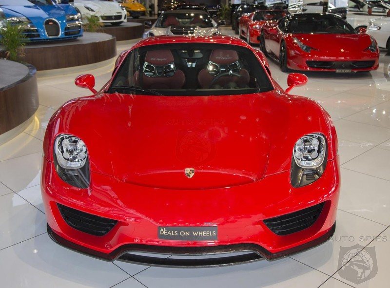 red porsche 918 spyder weissach even stands out in dubai