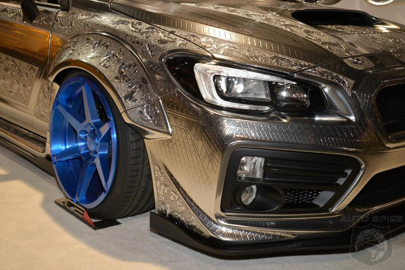 Engraved Subaru WRX STI With Widebody Kit Is Pure Art
