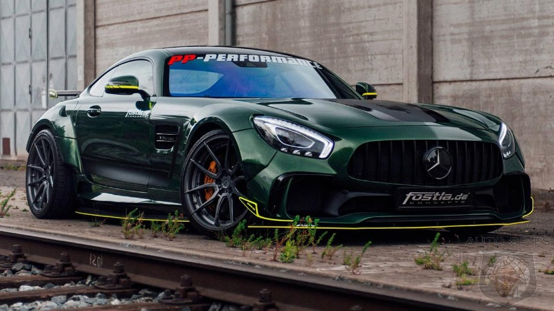 This Mercedes-AMG GT tuned by Fostla is a green monster on the road