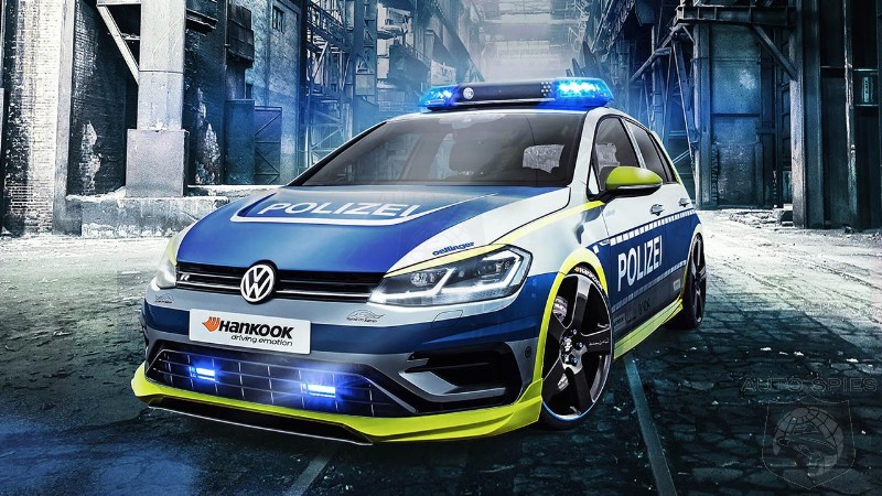 Oettinger VW Golf 400R police car concept is presented under Germany safety campaign