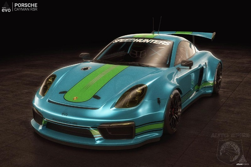 Porsche Cayman RSR race car gets rendered