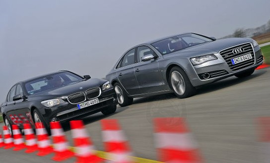 Audi A8 Beats BMW 7 Series