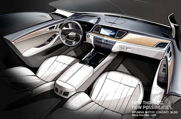 Official Teaser Image Of The 2015 Hyundai Genesis Interior