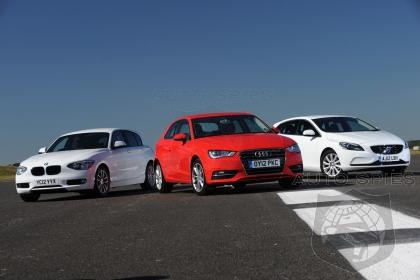 New Audi A3 vs BMW 1 Series vs Volvo V40