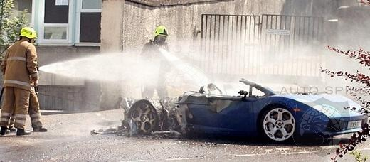 Lamborghini Gallardo bursts into flames