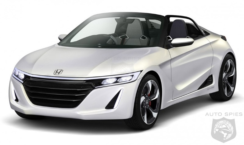 Charming Honda Unveils All New S660 Mid Engined Sports Car