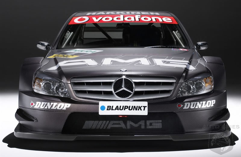The 2007 AMG-Mercedes DTM C-Class has a 4.0 liter V8 engine that produces