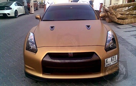 Nissant Gt R Spotted With Matte Gold Paint Job Autospies