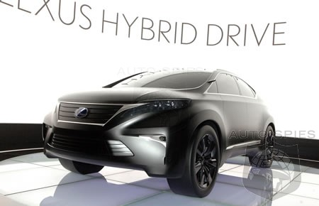 It also gives us a major hint at what the 2010 Lexus RX SUV will look like.