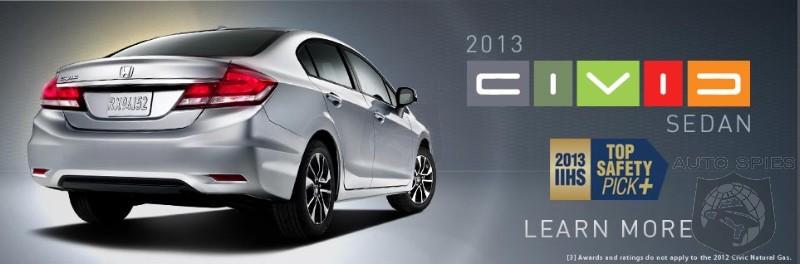 Civic Sedan and Coupe Become First Small Cars with Top Safety Pick Plus