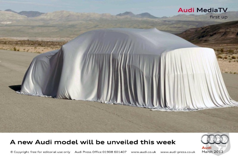 Audi launching new model & WebTV... A3 Saloon?