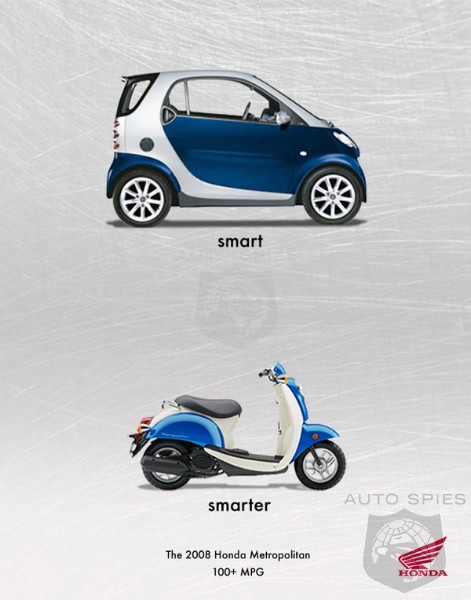 Honda using smart fortwo to boost its scooter sales for Honda smart car