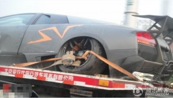 First Lambo Murcielago Lp 670 4 Sv China Edition Crashed