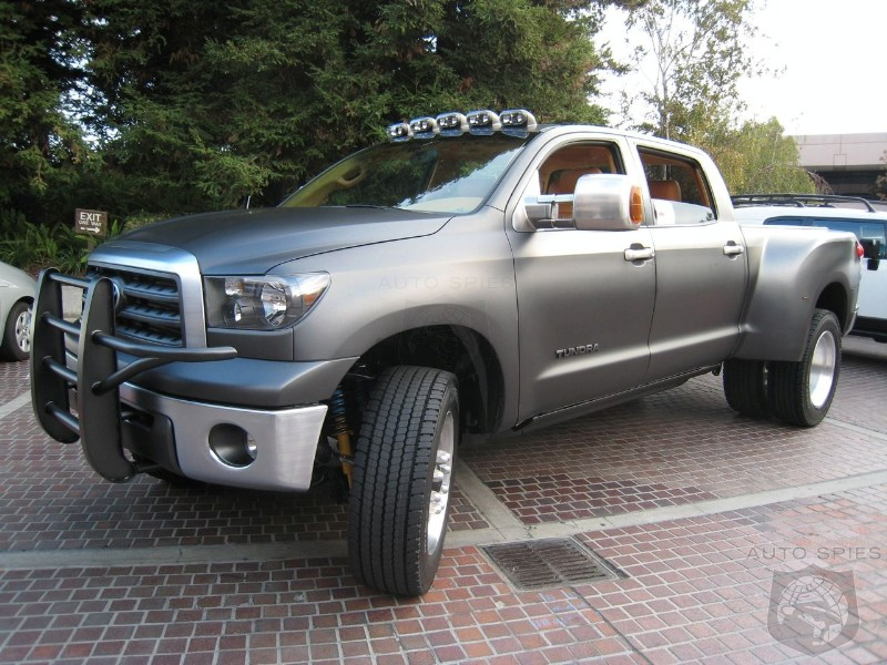 a Toyota Tundra CrewMax diesel dually project truck, which made its