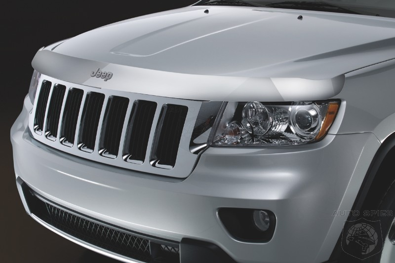 Deluxe and flexible front and rear splash guards are molded to the Jeep
