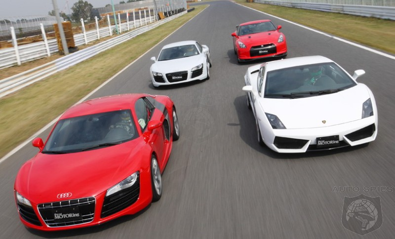 Lamborghini Gallardo LP560 4 Vs Audi R8 5.2 Vs Audi R8 4.2 Vs Nissan GT R U2013  Tsukuba Circuit Battle Video