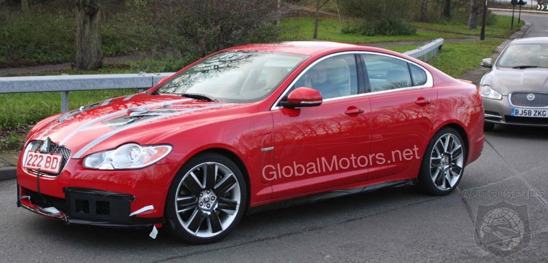 2010 Jaguar XF-R spotted nearly finished